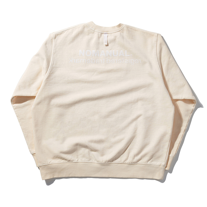 [노매뉴얼] REVERSED TM LOGO SWEATSHIRT - CREAM