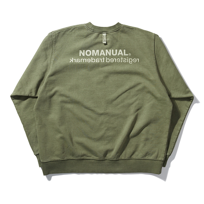 [노매뉴얼] REVERSED TM LOGO SWEATSHIRT - KHAKI
