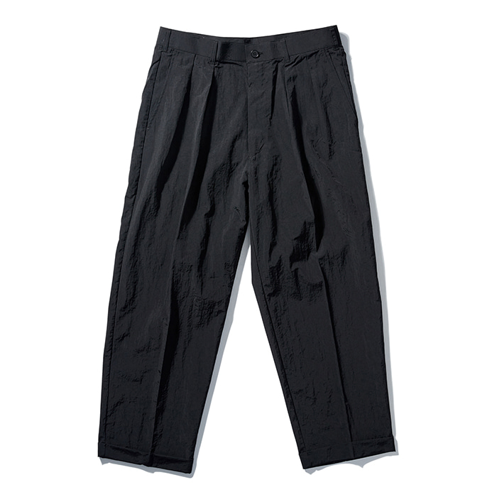 [노매뉴얼] NYLON SET-UP PANTS - BLACK