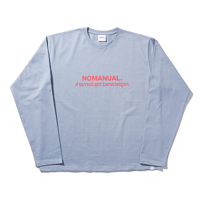 [8/23 예약배송][노매뉴얼] BIG LOGO LONG SLEEVE TEE - SKY