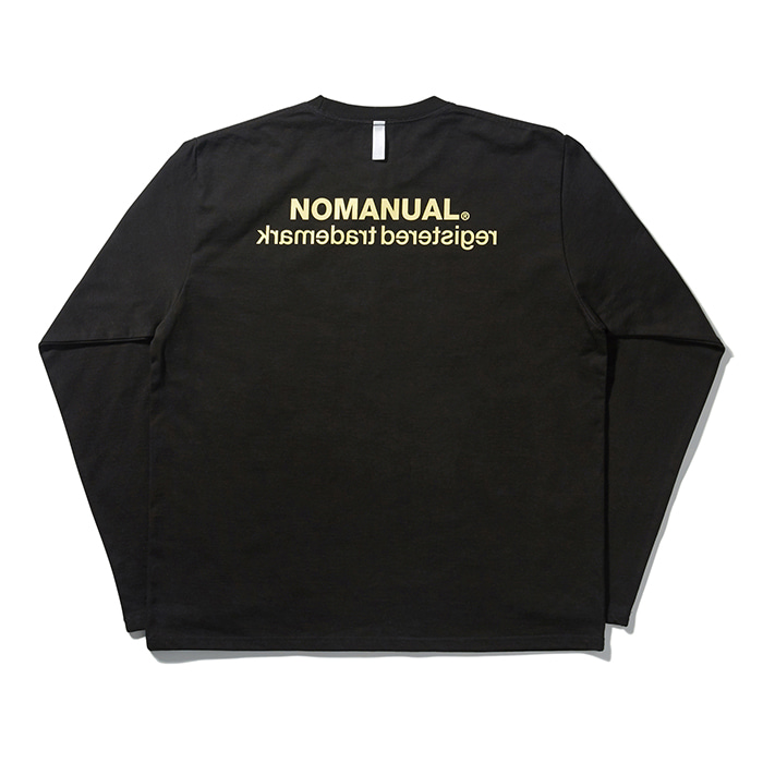 [노매뉴얼] REVERSED TM LONG SLEEVE TEE - BLACK