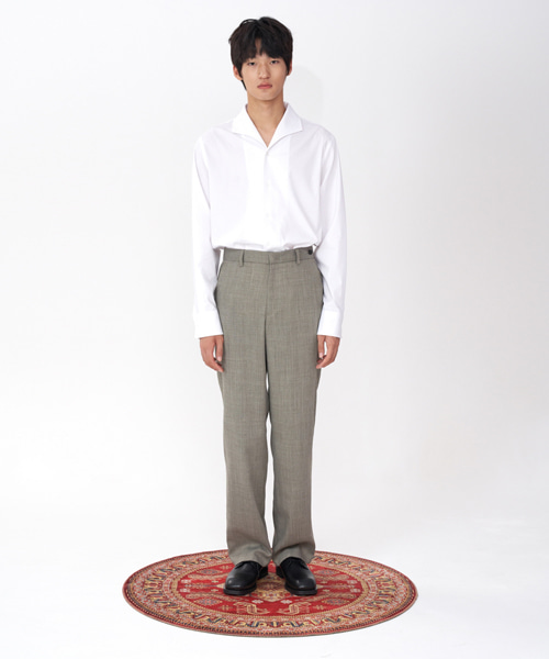 [에스티유] Loosefit slacks light grey