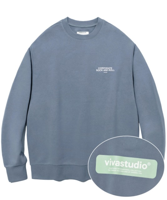 [비바스튜디오] BOX LOGO CREWNECK JS [COOL GREY]