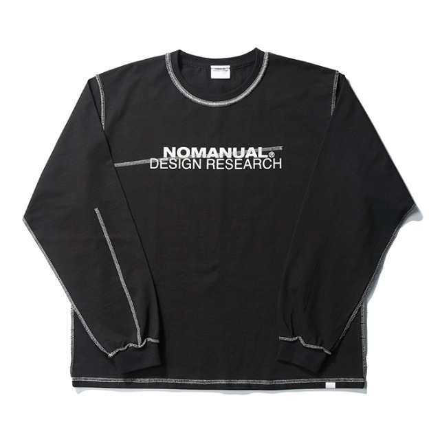 [노매뉴얼] R.D LONG SLEEVE TEE - BLACK
