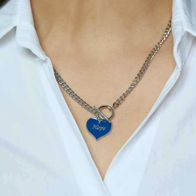 [하와] Hope heart tokeul necklace