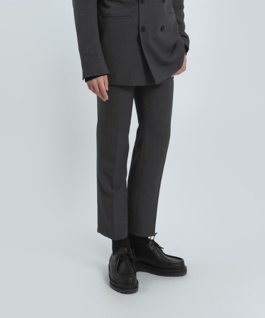 [우니베르소]SLIM STRAIGHT TROUSERS-GRAY