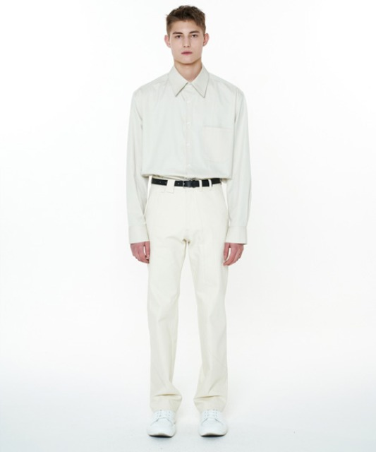 [에스티유] Stitch pants cream