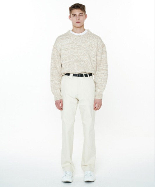 [에스티유] Bokashi stitch balloon knit beige