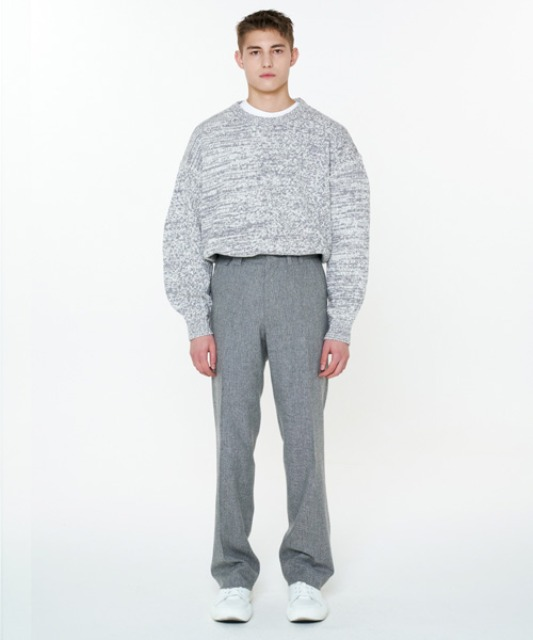 [에스티유] Bokashi stitch balloon knit grey
