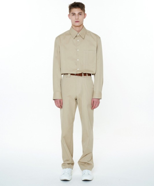 [에스티유] Stitch pants beige
