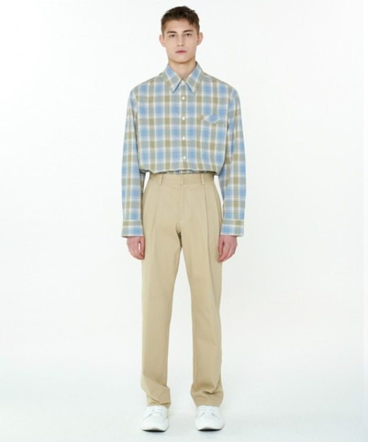 [에스티유] Two pocket shirt pastel check