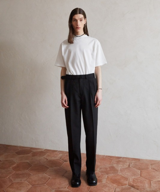 4/6 배송 [핸스] Essential Wool Wide Pants (Black)
