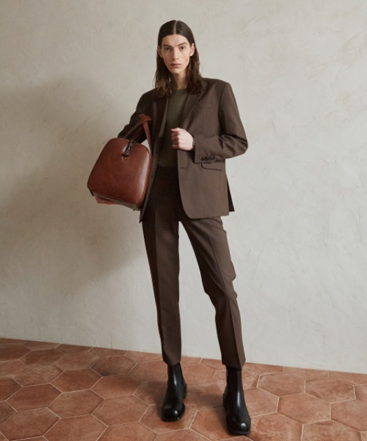 4/6배송 [핸스] Essential Wool Slim Pants (Brown)