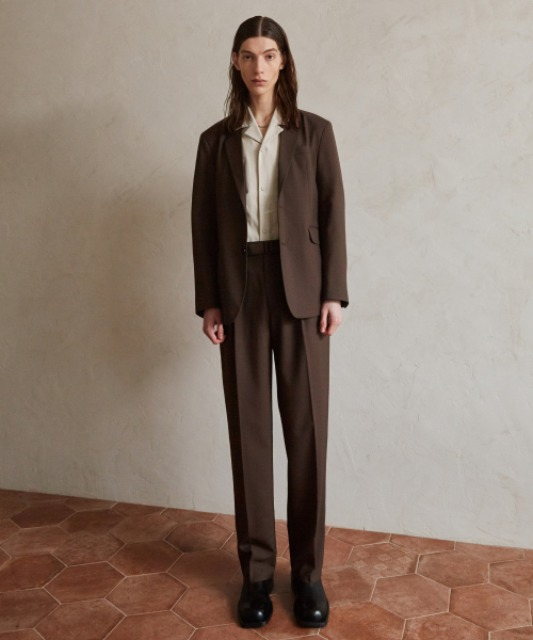 4/6 배송 [핸스] Essential Wool Wide Pants (Brown)