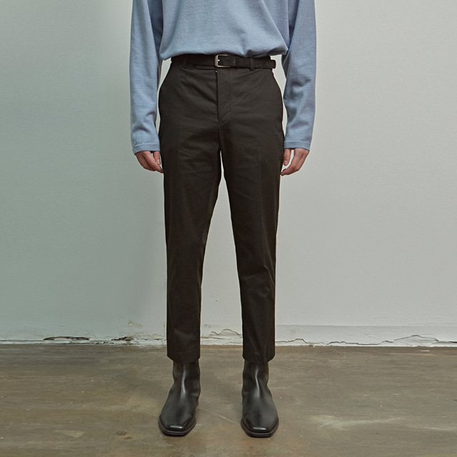 [에이글로우] COTTON SLIM FIT PANTS_BLACK