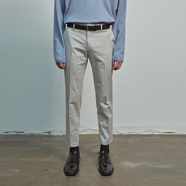 [에이글로우] COTTON RELAXED FIT PANTS_GRAY