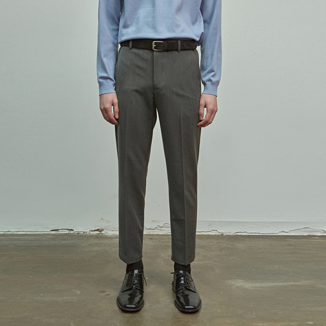 [에이글로우] SLIM FIT BANDING SLACKS_CHARCOAL