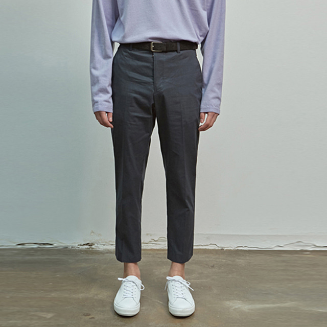 [에이글로우] COTTON SLIM FIT PANTS_NAVY