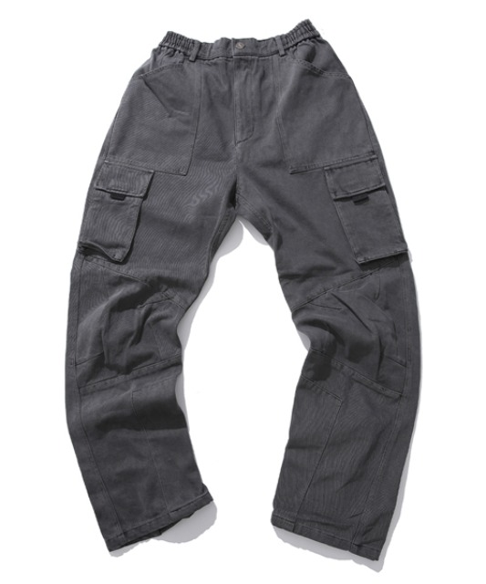 [아이사피] washing panel pants charcoal