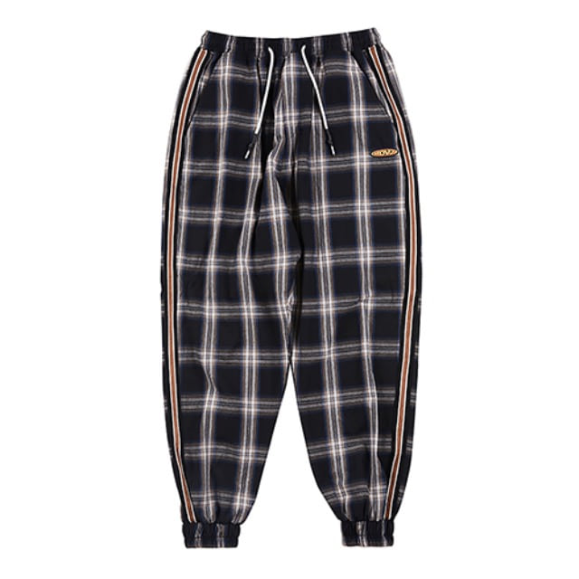 [알디브이제트] CHECK LOUNGE JOGGER PANTS BLACK