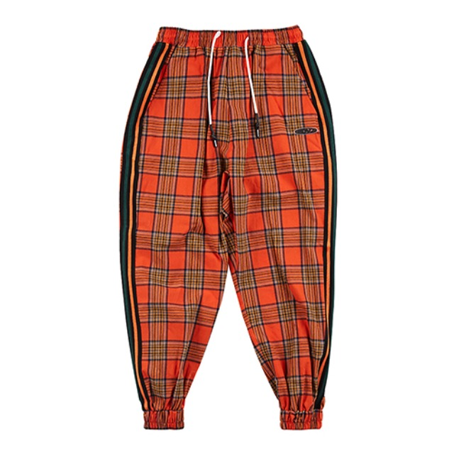 [알디브이제트] CHECK LOUNGE JOGGER PANTS ORANGE