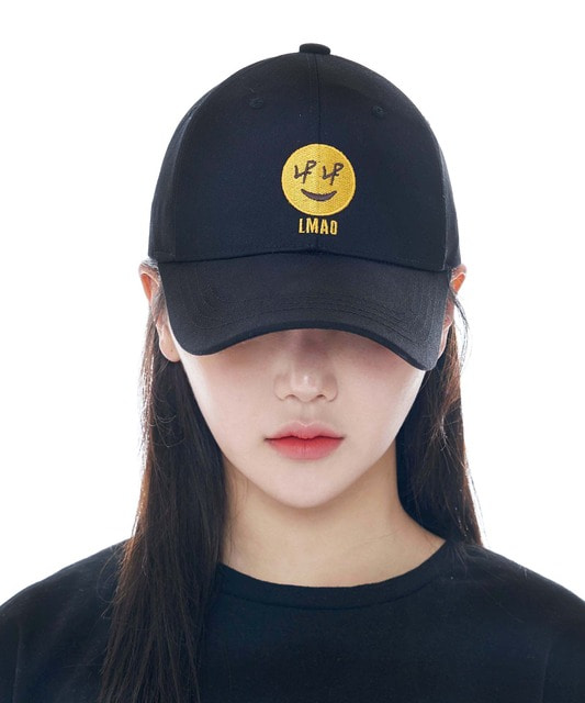 [루오에스팩] Smile cap (black)