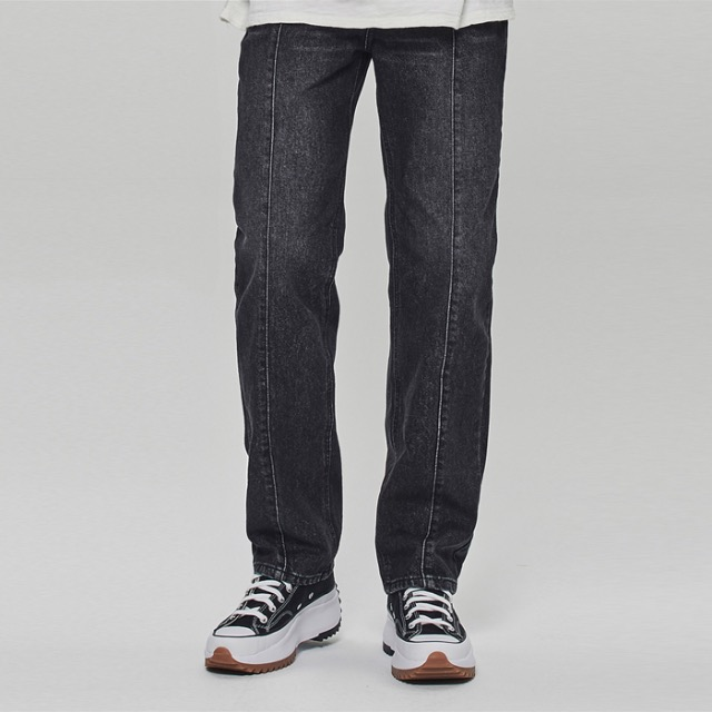[데드엔드] BLACK VERTICAL REGULAR STRAIGHT JEANS