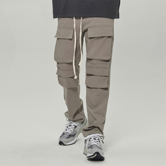 [데드엔드] TAN MULTI POCKET CARGO STRING PANTS