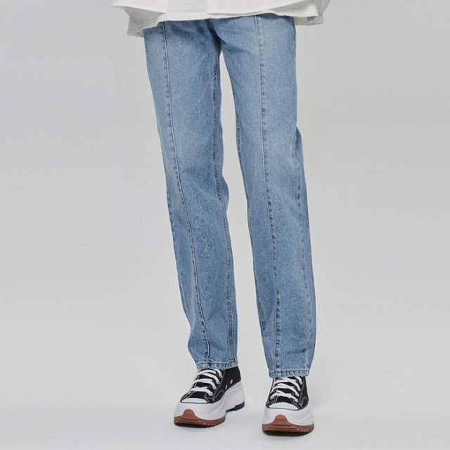 [데드엔드] LIGHT BLUE VERTICAL REGULAR STRAIGHT JEANS