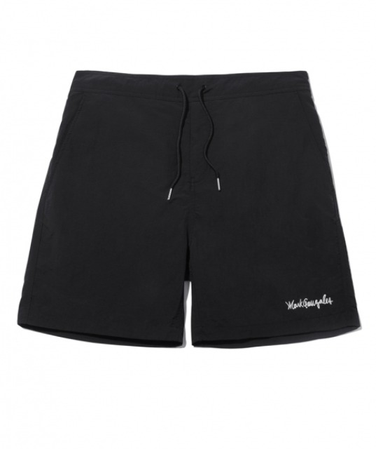 [마크곤잘레스] M/G SIGN LOGO BEACH SHORTS BLACK