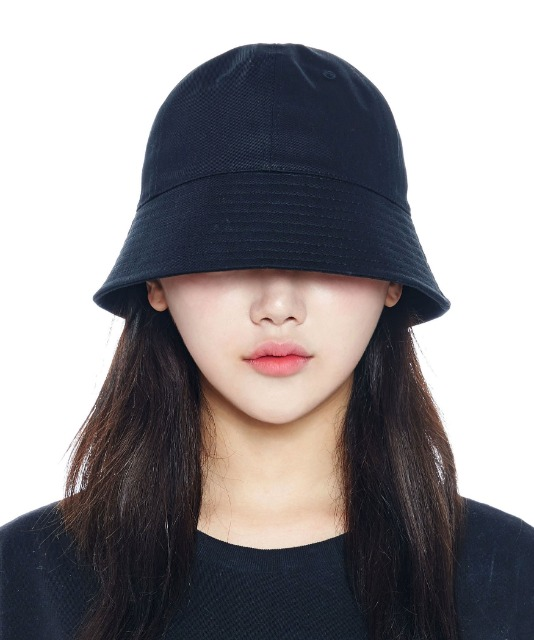 [루오에스팩] Overfit round bucket hat (black)
