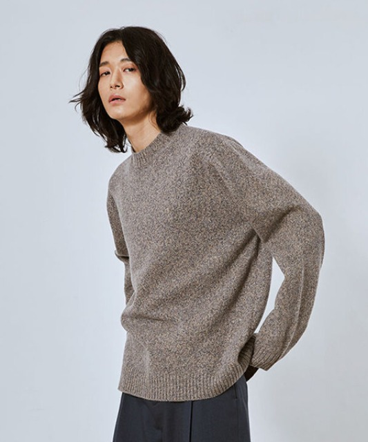[밈더워드로브] MULTI COLOR Merino Wool Oversized Knit