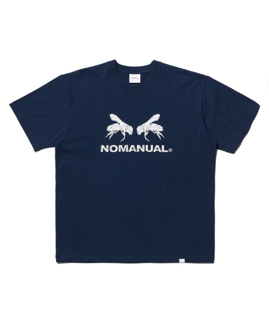 [노매뉴얼] WORKER BEE T-SHIRT - NAVY