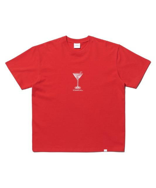 [노매뉴얼] MARTINI T-SHIRT - RED