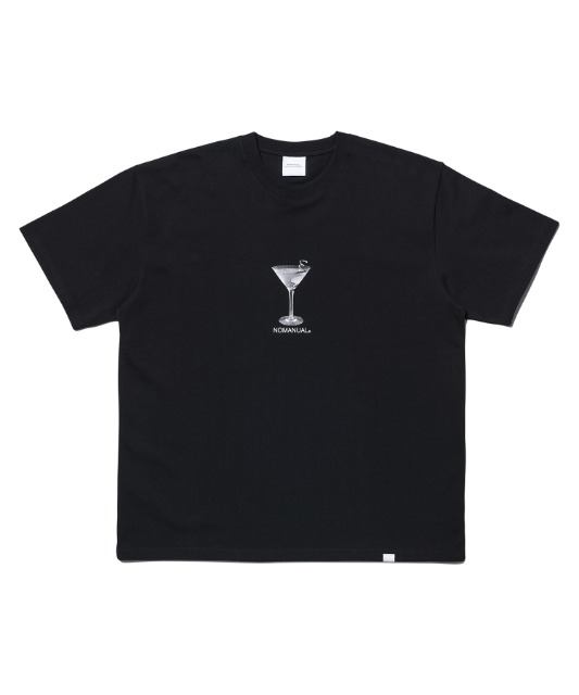 [노매뉴얼]MARTINI T-SHIRT - BLACK