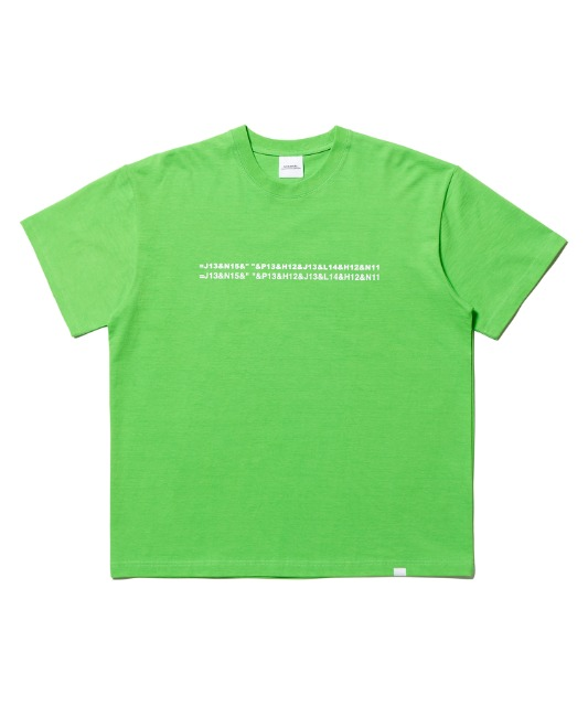 [노매뉴얼] EXCEL LOGO T-SHIRT - GREEN