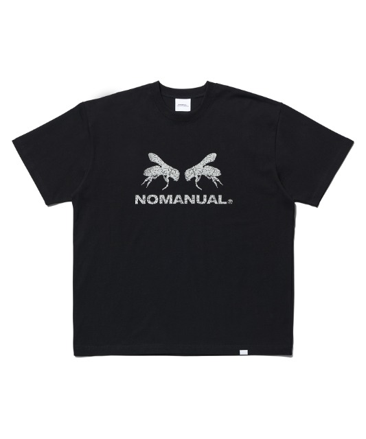 [노매뉴얼] WORKER BEE T-SHIRT - BLACK