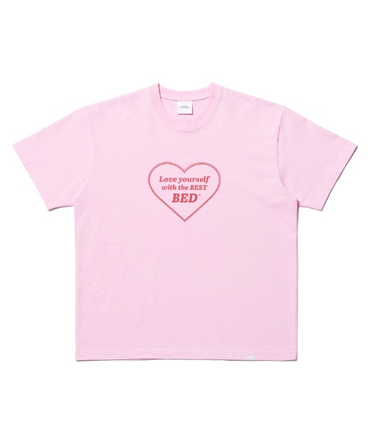 [노매뉴얼] LOVE YOURSELF T-SHIRT - PINK