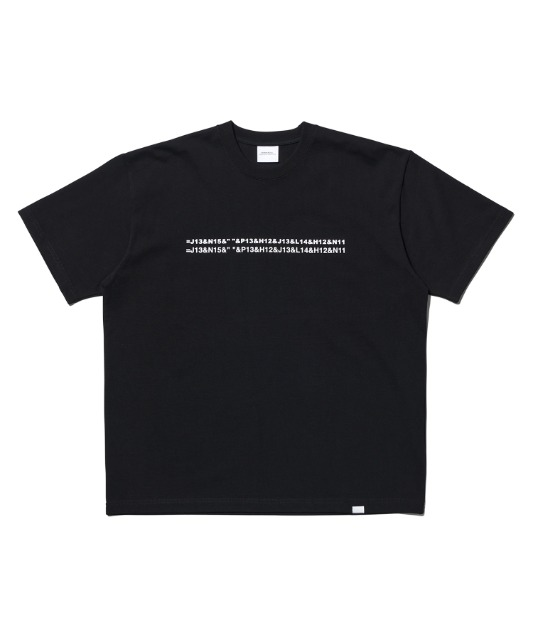 [노매뉴얼] EXCEL LOGO T-SHIRT - BLACK