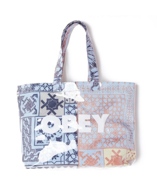 [오베이] BANDANA PVC TOTE BAG - GOOD GREY