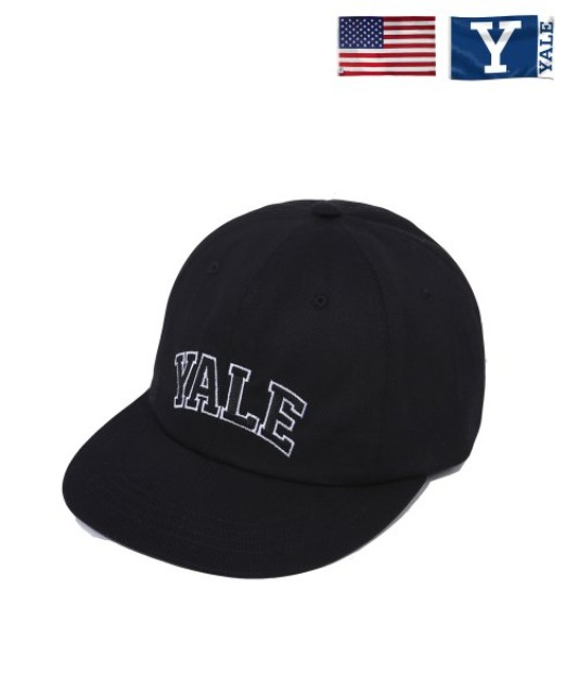 [예일] ARCH LOGO BALL CAP BLACK