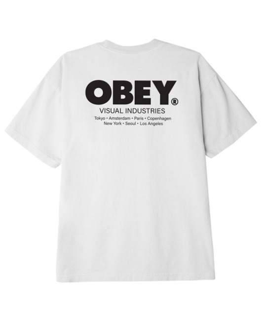 [오베이] OBEY VISUAL INDUSTRIES - WHITE