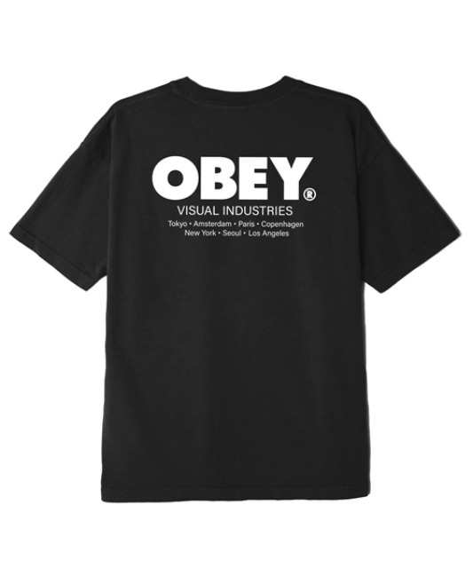 [오베이] OBEY VISUAL INDUSTRIES - BLACK