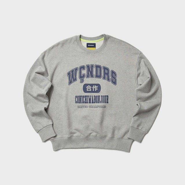 [위캔더스] COLLEGE SWEATSHIRT (GREY)