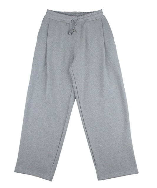[슬로우아카이브] Deep Tuck Sweat Pants Grey