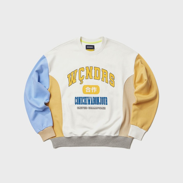[위캔더스] COLLEGE COLOR SWEATSHIRT (IVORY)